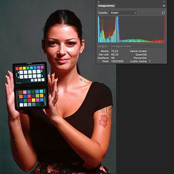 Immagine scattata in JPEG con bilanciamento sbagliato, ribilanciata in post produzione