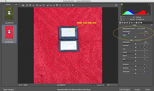 Passport fotografato in AWB su fondo rosso