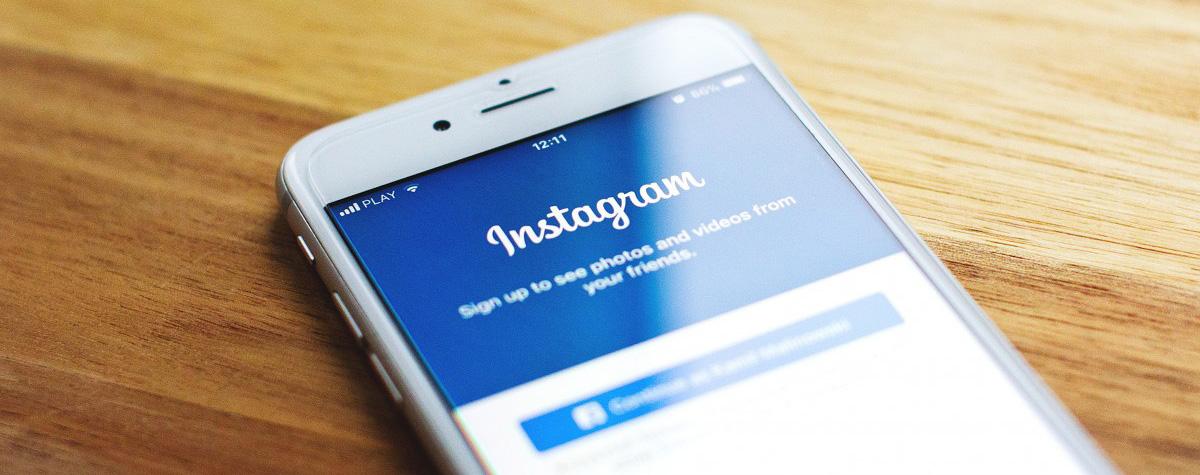 Cellulare con instagram