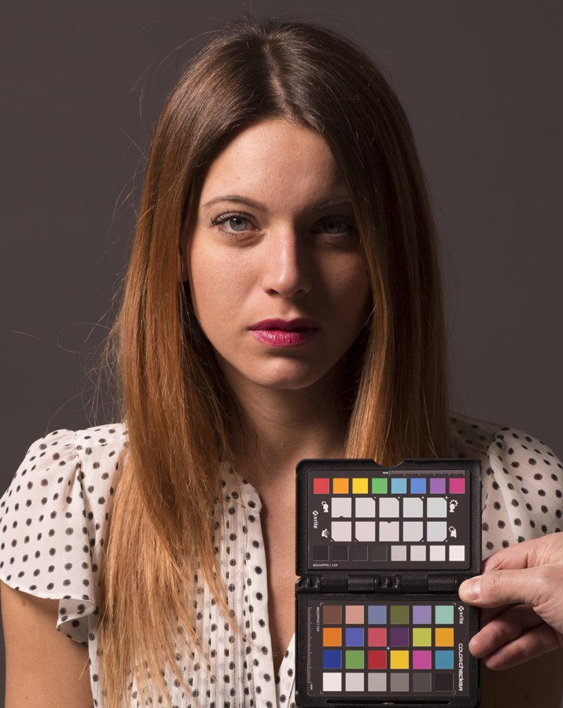 """Lo scatto """"riscaldato"""", bilanciato sulla quinta casella del target creative enhancement di ColorChecker"""