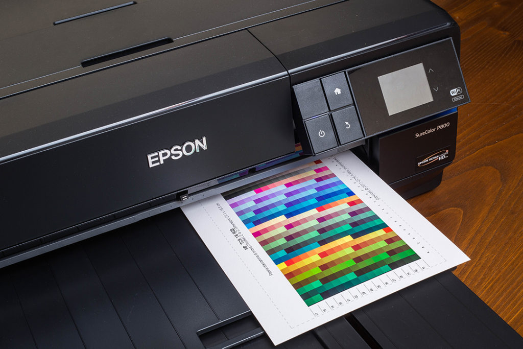 La stampa di una chart con una Epson SC-P800