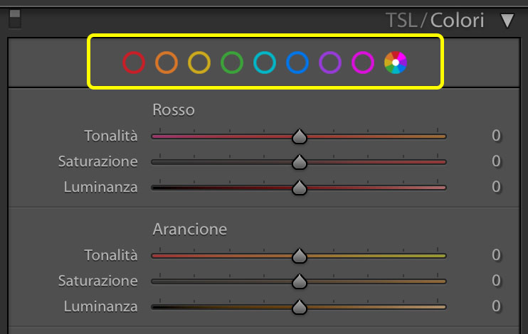 La nuova interfaccia del pannello colore in Lightroom 2020