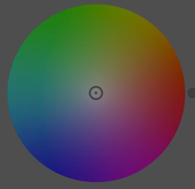 La ruota colore tonalità/saturazione